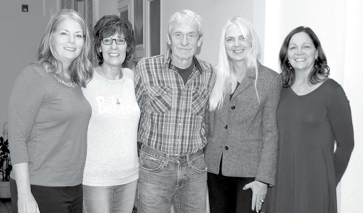 Members of the newly formed Cross Over Ministries board of directors, from the left are Dawn Young, Linda Liebscher, Wayne Wedekind, Jane Hewitt and Lori Hopwood. Not present for the photo was Syble Kemp.