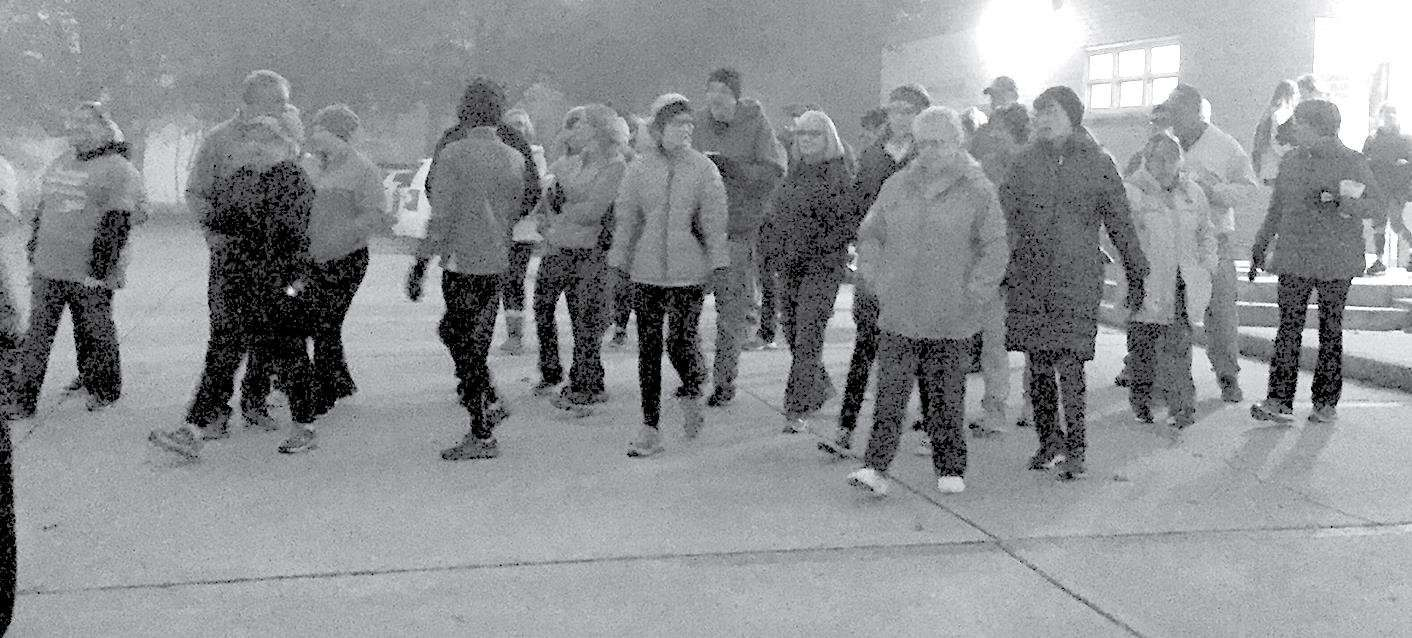 More than 60 joined the inaugural one-mile walk Out of the Darkness and Into His Light sponsored by Cross Over Ministries on Saturday, Nov. 3, at the Hillsboro United Methodist Church.