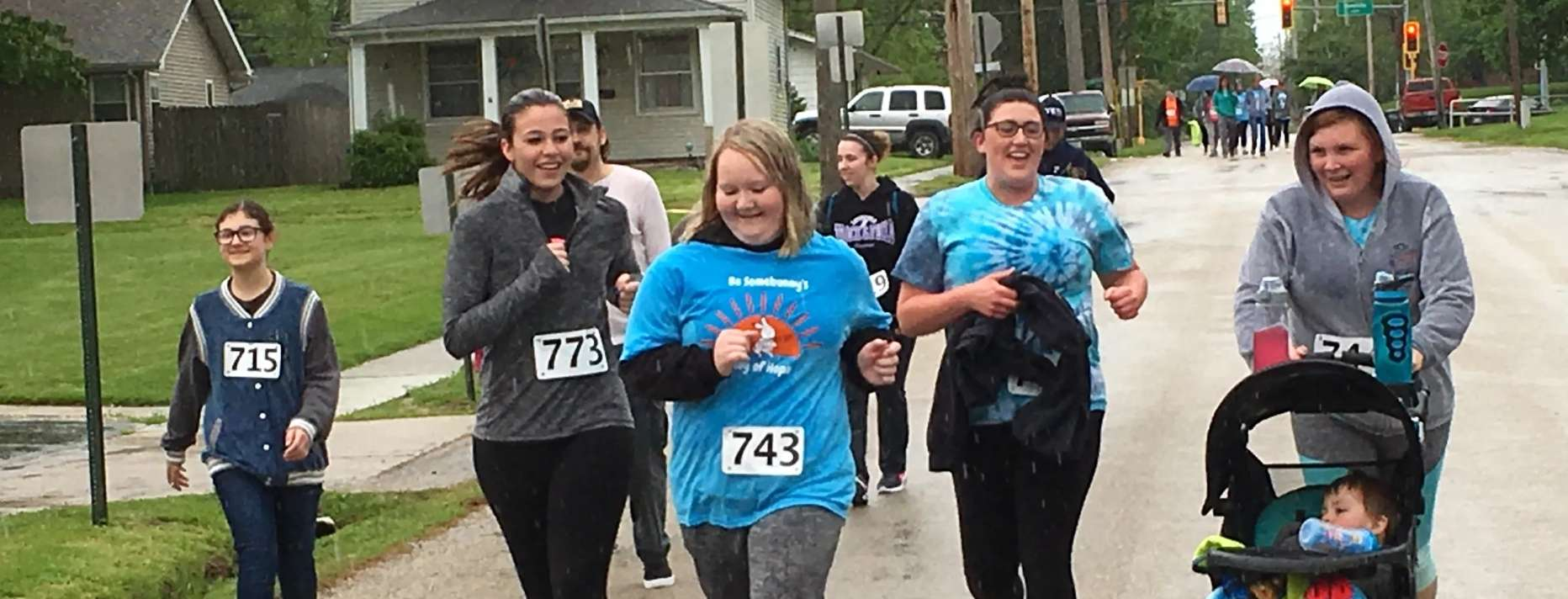 More than 80 joined the inaugural 5K run/walk Be Somebunny's Ray of Hope sponsored by Montgomery Co Health Dept on Saturday, May 11.